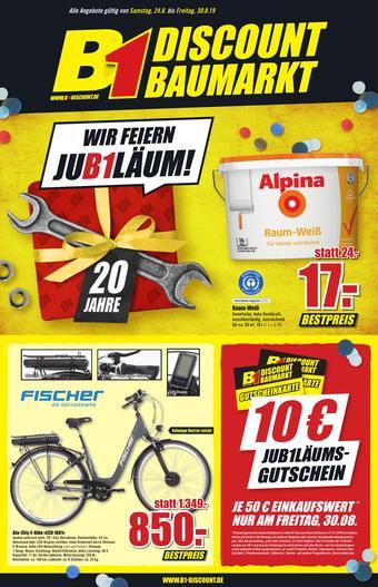 B1 Discount Baumarkt Prospekt (bis einschl. 30-08)