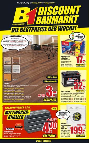 B1 Discount Baumarkt Prospekt (bis einschl. 25-10)