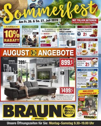Möbel Braun Prospekt (bis einschl. 31-08)
