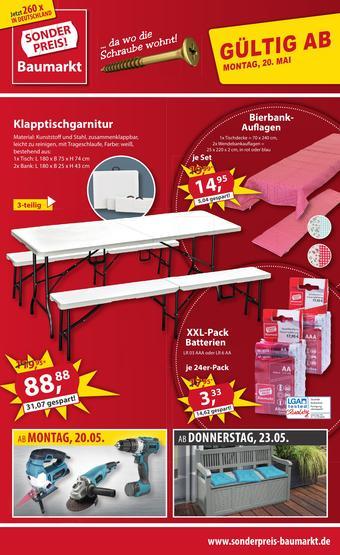 Sonderpreis Baumarkt Prospekt (bis einschl. 25-05)