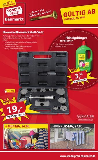 Sonderpreis Baumarkt Prospekt (bis einschl. 29-06)
