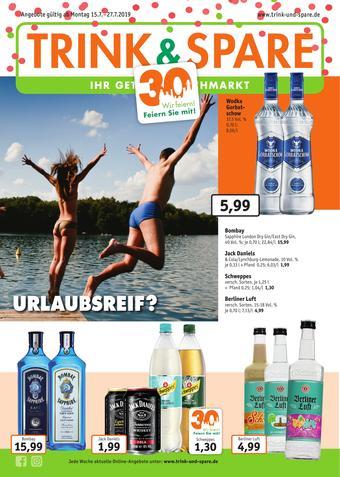 Trink und Spare Prospekt (bis einschl. 27-07)
