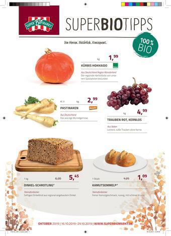 Superbiomarkt Prospekt (bis einschl. 29-10)