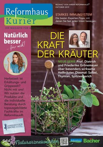Reformhaus Bacher Prospekt (bis einschl. 31-10)