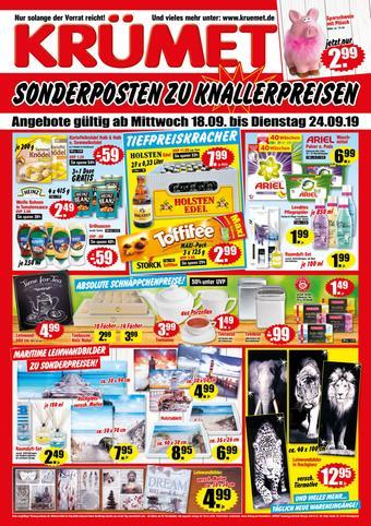 Krümet Sonderposten Prospekt (bis einschl. 24-09)