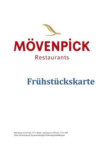 Mövenpick Restaurants Prospekt (bis einschl. 30-09)