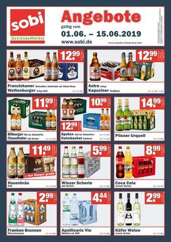 Sobi Getränkemarkt Prospekt (bis einschl. 30-06)