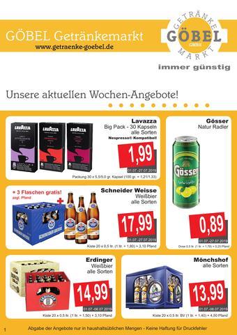 Getränke Göbel Prospekt (bis einschl. 31-07)