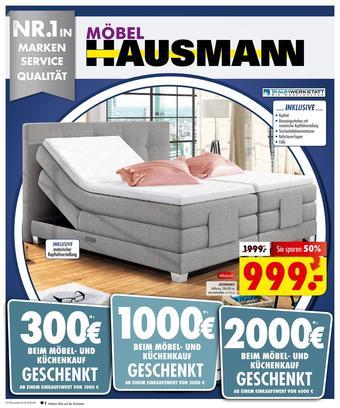 Möbel Hausmann Prospekt (bis einschl. 26-08)