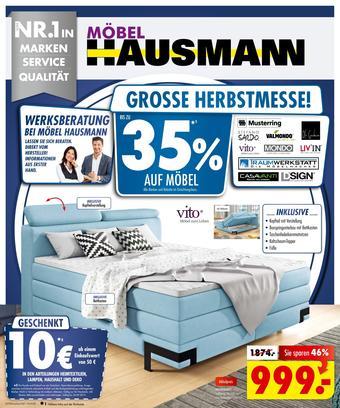 Möbel Hausmann Prospekt (bis einschl. 24-09)