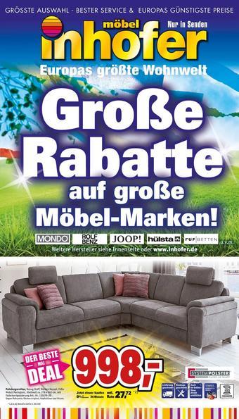 Möbel Inhofer Prospekt (bis einschl. 25-05)