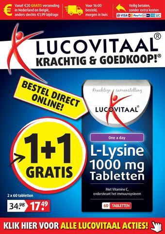 Lucovitaal reclame folder (geldig t/m 25-08)