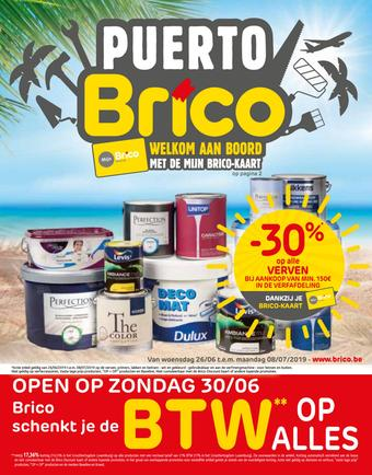 Brico reclame folder (geldig t/m 08-07)