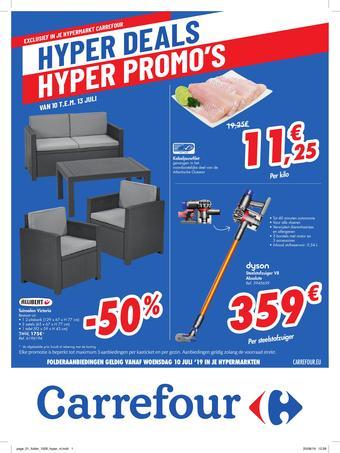 Carrefour reclame folder (geldig t/m 19-07)