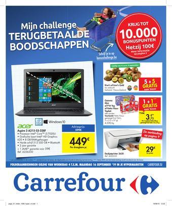 Carrefour reclame folder (geldig t/m 16-09)