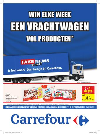 Carrefour reclame folder (geldig t/m 21-10)
