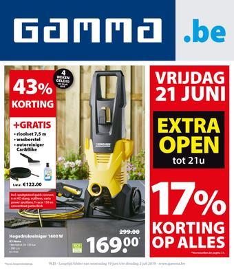 GAMMA reclame folder (geldig t/m 02-07)