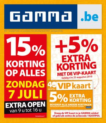 GAMMA reclame folder (geldig t/m 16-07)
