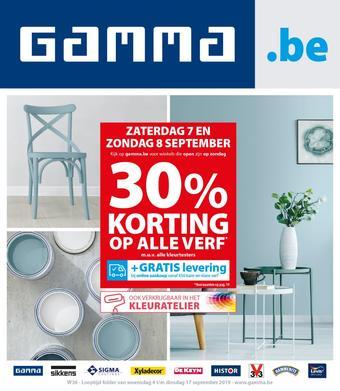 GAMMA reclame folder (geldig t/m 17-09)