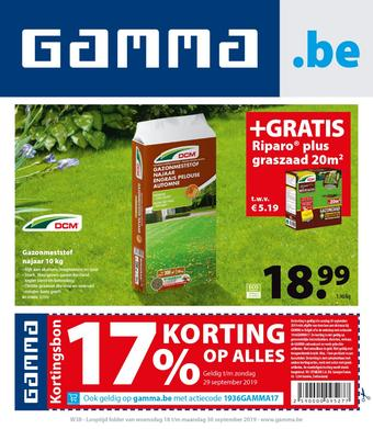 GAMMA reclame folder (geldig t/m 30-09)