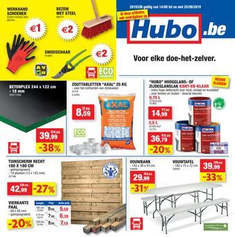 Hubo reclame folder (geldig t/m 25-08)