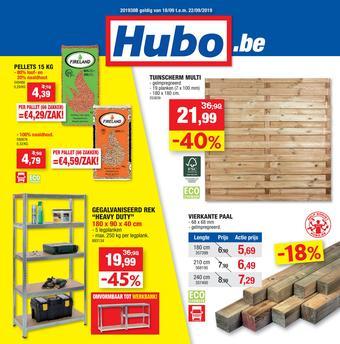 Hubo reclame folder (geldig t/m 22-09)
