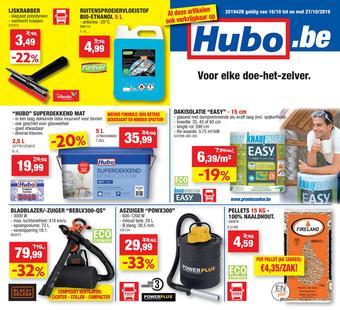 Hubo reclame folder (geldig t/m 27-10)
