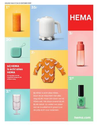Hema reclame folder (geldig t/m 15-10)