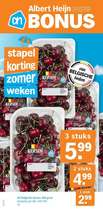 Albert Heijn reclame folder (geldig t/m 21-07)