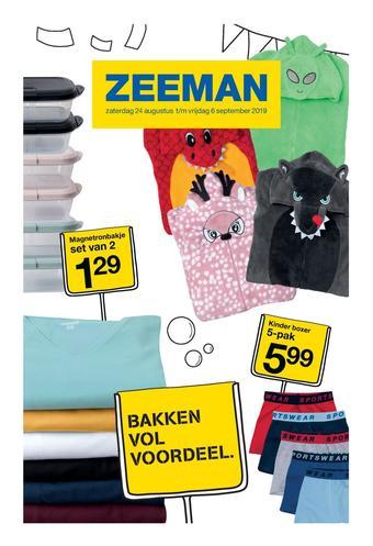 Zeeman reclame folder (geldig t/m 06-09)