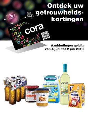 Cora reclame folder (geldig t/m 02-07)