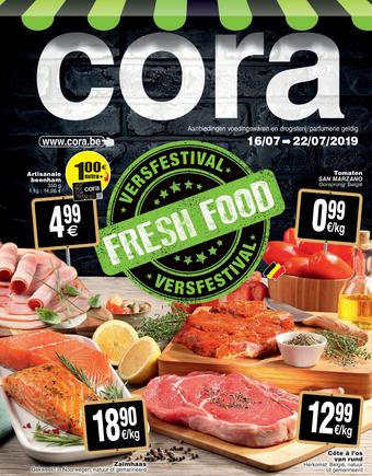 Cora reclame folder (geldig t/m 22-07)