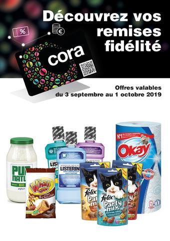 Cora reclame folder (geldig t/m 01-10)