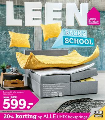 Leen Bakker reclame folder (geldig t/m 25-08)