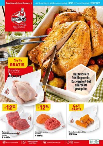 Renmans reclame folder (geldig t/m 19-09)