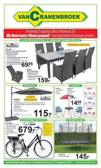Van Cranenbroek reclame folder (geldig t/m 31-08)