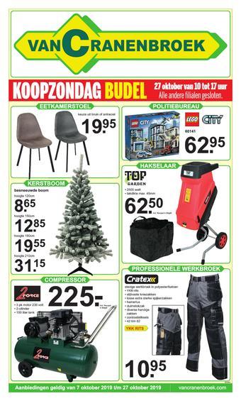 Van Cranenbroek reclame folder (geldig t/m 27-10)