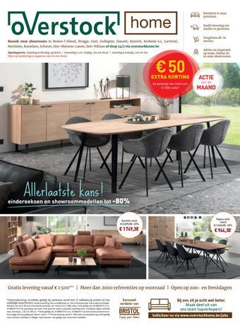 Overstock Home reclame folder (geldig t/m 31-08)