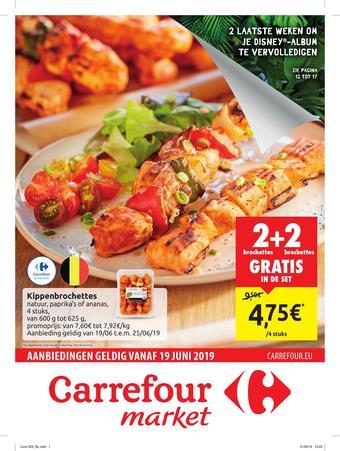 Carrefour Market reclame folder (geldig t/m 30-06)