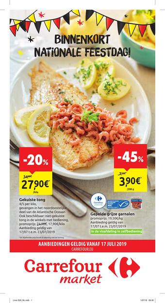 Carrefour Market reclame folder (geldig t/m 28-07)