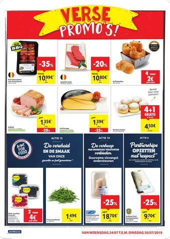 Carrefour Market reclame folder (geldig t/m 30-07)