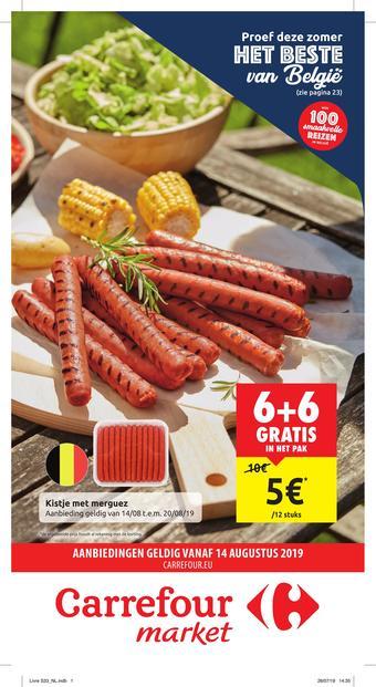 Carrefour Market reclame folder (geldig t/m 25-08)