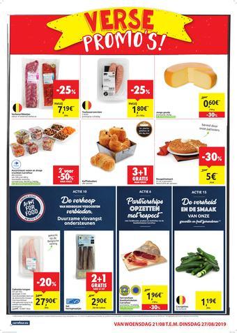 Carrefour Market reclame folder (geldig t/m 27-08)