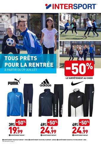 Intersport reclame folder (geldig t/m 31-08)