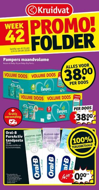Kruidvat reclame folder (geldig t/m 20-10)