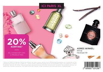 ICI PARIS XL reclame folder (geldig t/m 11-11)