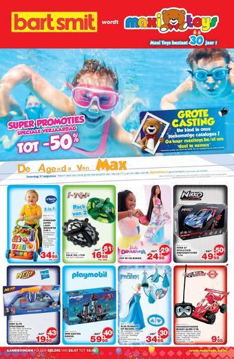 Maxi Toys reclame folder (geldig t/m 18-08)
