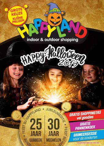 Happyland reclame folder (geldig t/m 02-11)