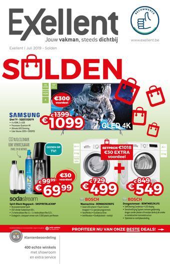 Exellent reclame folder (geldig t/m 31-07)