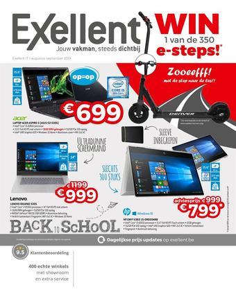 Exellent reclame folder (geldig t/m 30-09)